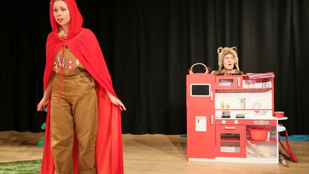 Joanna Sawyer and Darren Latham in Red Riding Hood at The Avenue Theatre Picture: DAVID NEWBORN