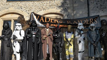 Star Wars characters at the 10th annual sci-fi exhibiton at Moyse's Hall in Bury St Edmunds Picture