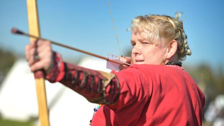 Karlena Young ready for a day of archery Picture: SARAH LUCY BROWN