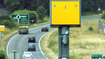 Speed camera on the A140 southbound, near the junction for Coddenham Picture: ANDY ABBOTT