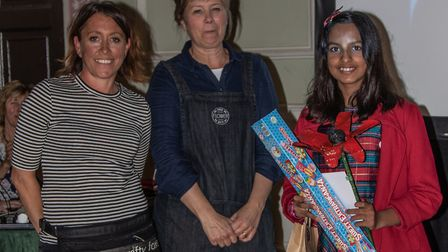 Niya Paul with organisers from the Crafty Foxes Picture: JO SWEETMAN
