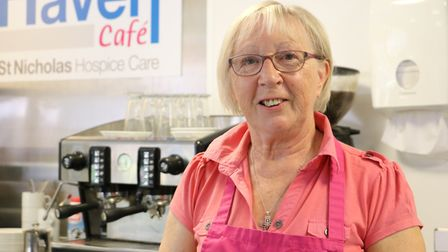 Maggie Dickson, who helps in the cafe at the centre Picture: ST NICHOLAS HOSPICE CARE
