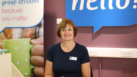 Val Simpson who volunteers on reception at the Haverhill outreach hub Picture: ST NICHOLAS HOSPICE C