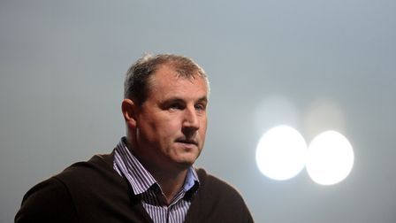 Paul Jewell leaves the pitch for the final time as Ipswich Town manager. He left the club a day late