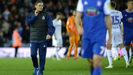 Paul Hurst at Elland Road after the final whistle Picture Pagepix