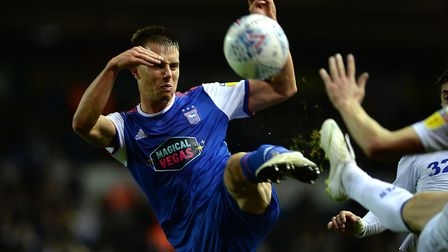 Jonas Knudsen hooks the ball into the box at Leeds Picture Pagepix