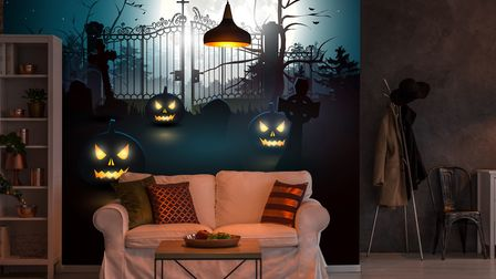 Undated Handout Photo ofCreate A Room That Raises The Spirits Halloween mural from the 'Extende