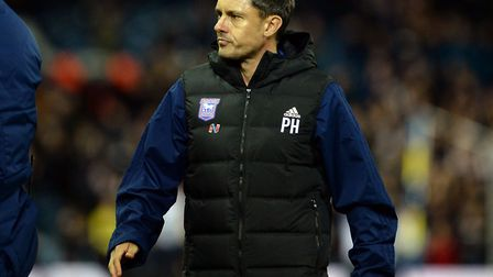 Paul Hurst after the final whistle at Elland Road last night. Picture PAGEPIX LTD