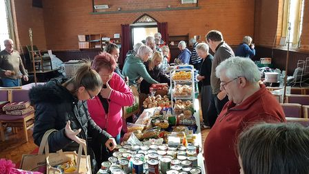 Non-perishable items fill the church every week when BASIC Life's pop-up shop visits Felixstowe. Pic