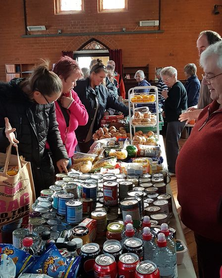 The East of England Co-op helps to collect food for the pop-up shops. Picture: RACHEL EDGE