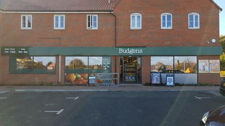 The Budgens store in Great Blakenham, where the thieves attempted to force entry Picture: DANIEL PON