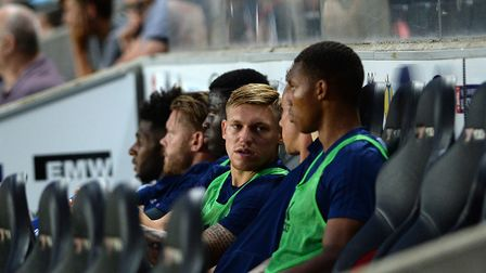 Martyn Waghorn was not involved at MK Dons as a long-running transfer saga rumbled on. Picture Pagep