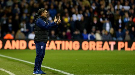 The game at Leeds was Paul Hurst's last as Ipswich Town manager. Picture Pagepix