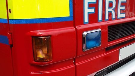 Three fire engines rushed to the scene of the fire where a child had already been rescued by two bys