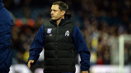 Paul Hurst at Elland Road after the final whistle last night. Picture: Pagepix