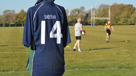 Ed Sheeran's school rugby shirt is going up for auction in aid of Zest Picture: SARAH LUCY BROWN