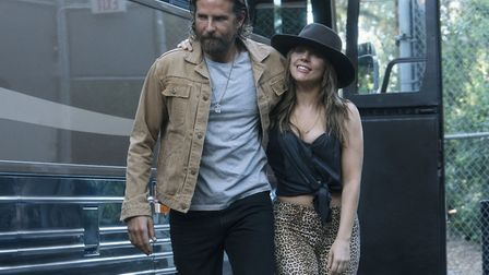 A Star Is Born. Pictured: Bradley Cooper as Jackson Maine, Lady Gaga as Ally. Picture: PA/Warner Br