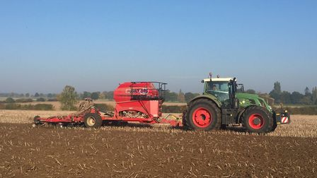 Planting winter wheat this autumn at Brian Barker's farm, near Stowmarket Picture: BRIAN BARKER