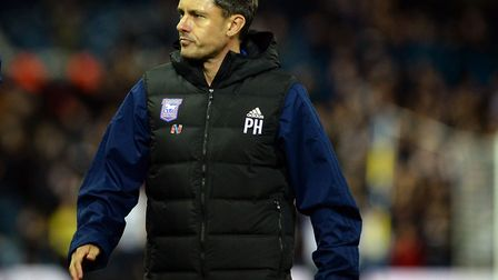 Paul Hurst's last game in charge was Wednesday night's 2-0 defeat at Leeds United. Photo: Pagepix