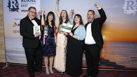 Best Rural Professional Services Business winner Appetite Me from left, Rob Tata, Shelly Tate, Becka