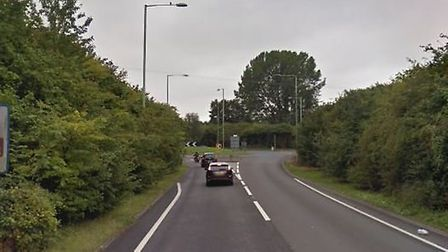 A man had died following a crash on the A134 near Sudbury PIcture: GOOGLEMAPS
