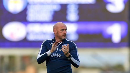 Colchester United boss John McGreal is expecting a tough game against league-leaders Lincoln. Pictur