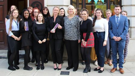 Attwells Solicitors of Ipswich celebrate two ESTA award wins Back row, left to right: Charlotte Rea