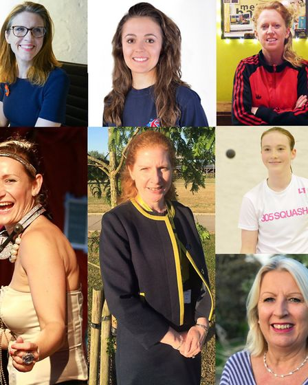 From top to left: Naomi Tarry, Jasmine Taylor, Cad Taylor, Sophie Tott, Jane Townsend, Lucy Turmel a