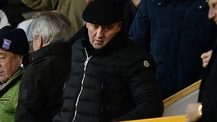 The new Ipswich manager Paul Lambert leaving the main stand at The Den on the final whistle Picture