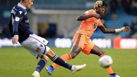 Trevoh Chalobah closes down at The Den. Photo: Pagepix