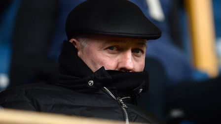 Paul Lambert watched from the stands as Ipswich Town lost 3-0 at Millwall yesterday. Photo: Pagepix