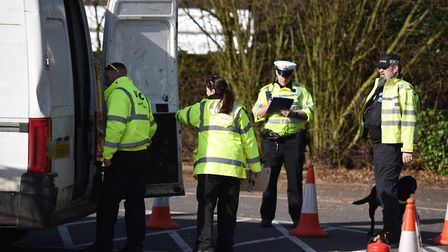 Police carried out checks on vehicles at various spots around Stowmarket (stock image) Picture: GREG