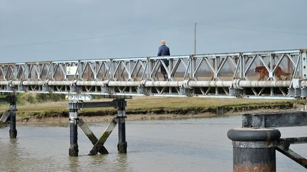 The bailey bridge has been closed since the beginning of October Picture: SARAH LUCY BROWN