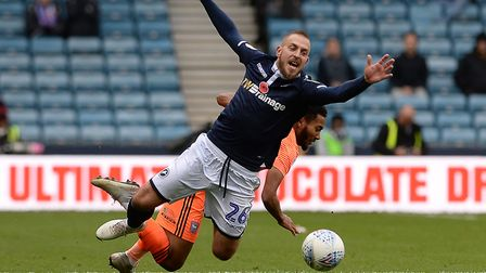 Grant Ward tangles with Jiri Skalak at Millwall Picture: PAGEPIX