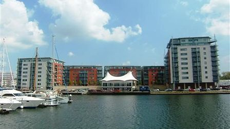 You could rent an apartment in Capstan House on Ipswich Waterfront for £895 a month. Picture: NICHOL