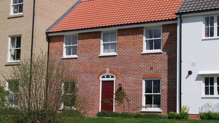 This three-bedroom house in Saxmundham is available to rent for £875 a month. Picture: JENNIE JONES