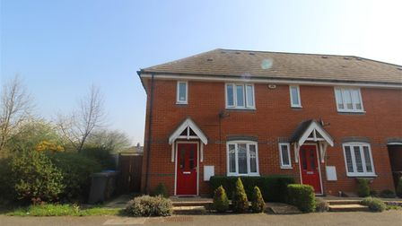 This three-bedroom house in Damselfly Road, Ipswich, is available to rent for £840 per month. Pictur