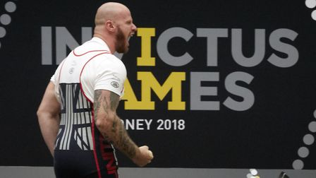 Matthew Tate competes in the powerlifting Picture: HELP FOR HEROES