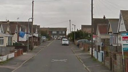The arson incident took place in Flowers Way, Jaywick Picture: GOOGLE MAPS