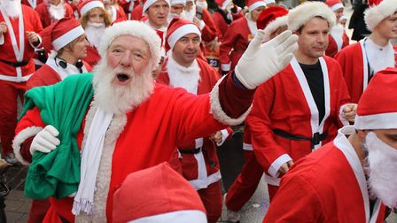 A Santa run will take place in Bury St Edmunds for the EACH charity Picture: EACH