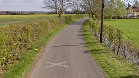 A horse has died after becoming trapped in a ditch in Monewden Picture: GOOGLE MAPS