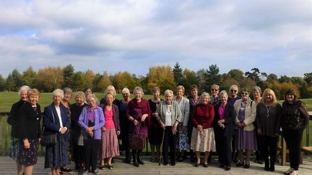 Members of the East Bergholt WI gathered to celebrate their centenary Picture: JEAN SCRUBY