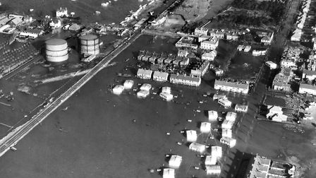 Forty-one people died when Felixstowe was hit by the 1953 east coast floods. This picture shows the