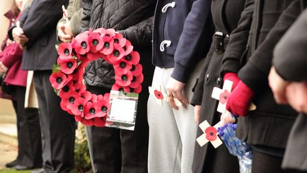 UCS students joined Ipswich primary school children, the British Legion, veterans and dignitaries to