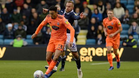 Andre Dozzell in action at Millwall. Photo: Pagepix