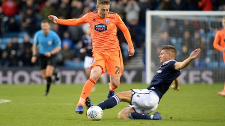 Freddie Sears is stopped by a challenge at The Den. Photo: Pagepix