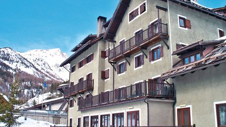 The Grand Albergo Hotel is in a peaceful spot, giving children plenty of room for snowball fights an