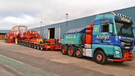 The transformers that will be on the way to Bramford tomorrow Picture: SUFFOLK HIGHWAYS.