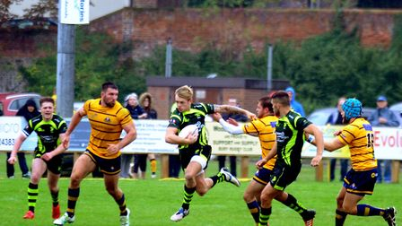 Connor O'Reilly had a fine game for Bury in their big defeat at Taunton. Picture: ANDY ABBOTT