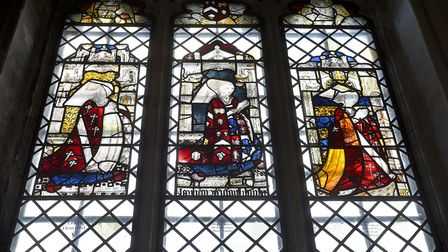 Holy Trinity Church, Long Melford is said to have one of the best examples of 15th century stained g